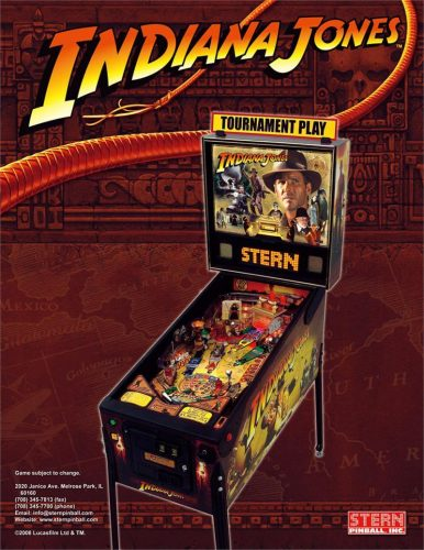ij4flyer1 386x500 Indiana Jones: Pinball Machine