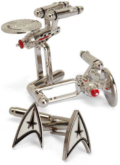 cf5e star trek cufflinks Star Trek Cuff Links
