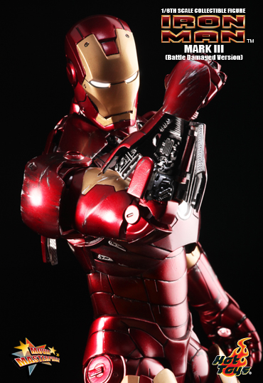 1b12529192834aae07f380a04 Iron Man :: 12 inches MARK III collectible figure (Battle Damaged Version)