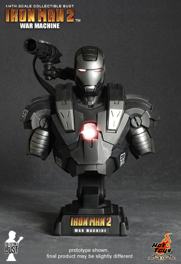 DSC 1876a 3x5 IRON MAN 2: 1/4th scale War Machine Collectible Bust