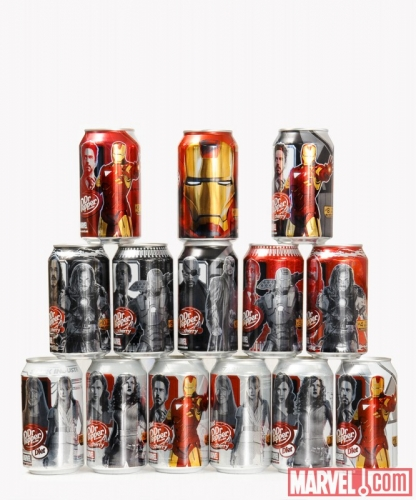 00 Iron Man 2 Dr. Pepper Cans