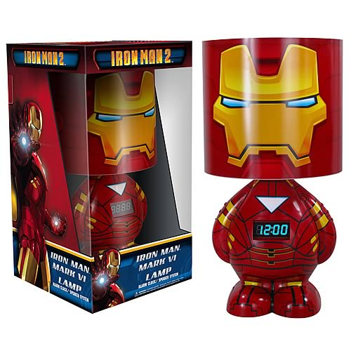 AUTOIMAGES FU1999lg Iron Man 2 Lamp Clock and MP3 Dock