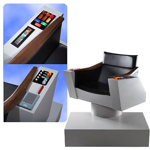 AUTOIMAGES RBRPC001lg Star Trek Original Series Captains Chair Replica