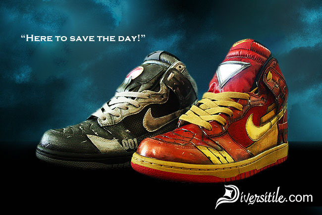 splash logo Iron Man 2 Shoes
