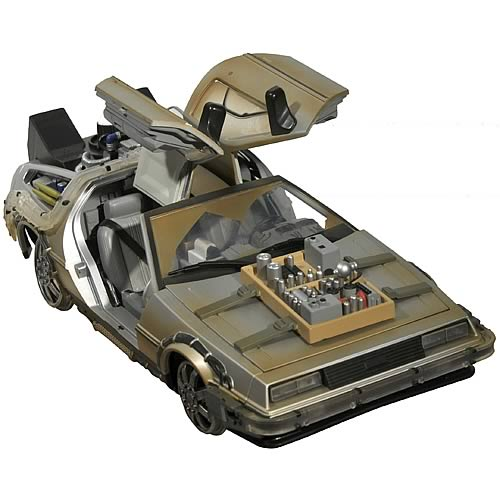 AUTOIMAGES DC21015lg Back to the Future III Rail Ready Time Machine Vehicle