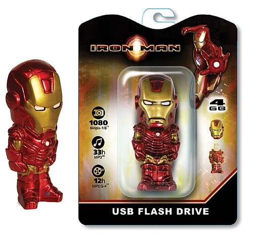 iron man flash drive Iron Man 4GB USB Flash Drive