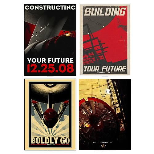 star trek 2010 posters Star Trek Movie Retro Poster Series 1 Set