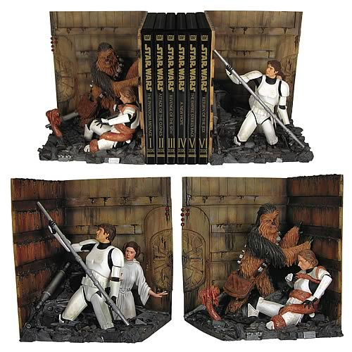 trash bookends Star Wars Death Star Trash Compactor Bookends Statue