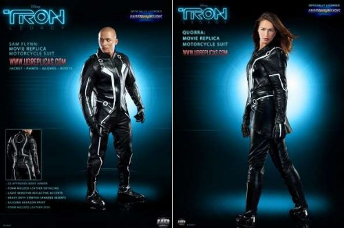 tron motorcycle suits 500x332 TRON Sam Flynn and Quorra Motorcycle Suits Now Available