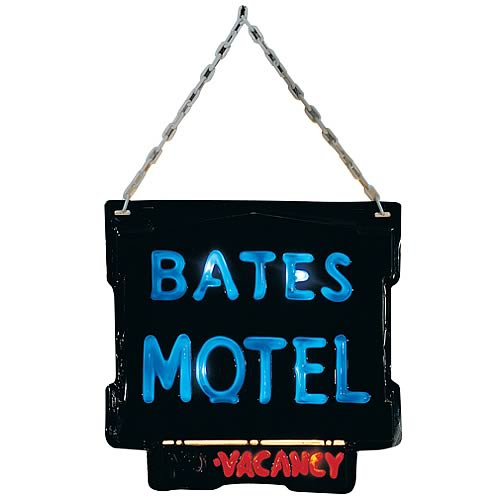AUTOIMAGES RU1752lg Psycho Bates Motel Lightup Sign
