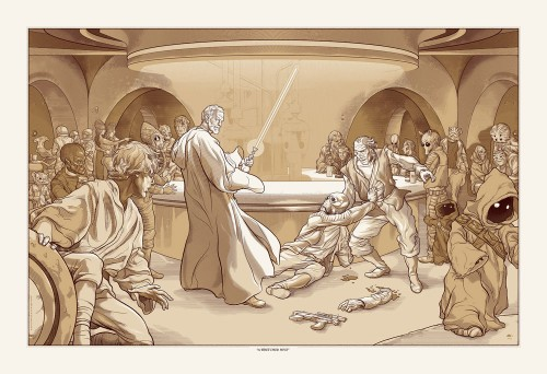 AnsinRegularFinalWeb 500x342 A Wretched Hive, Star Wars themed print