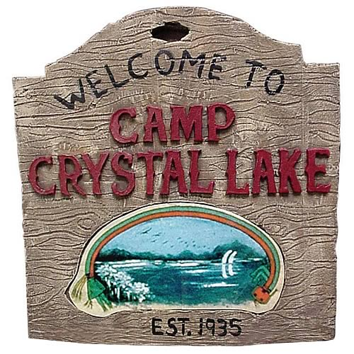 welcome to crystal lake sign Friday the 13th Camp Crystal Lake Sign