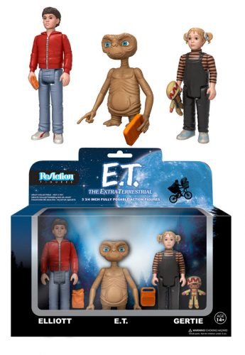 ET ReAction Funko 345x500 E.T. ReAction Action Figure 3 Pack & E.T. Glow in the Dark Finger and Chest ReAction Action Figure