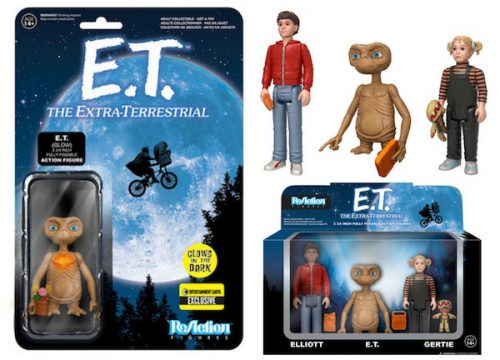 download 500x360 E.T. ReAction Action Figure 3 Pack & E.T. Glow in the Dark Finger and Chest ReAction Action Figure