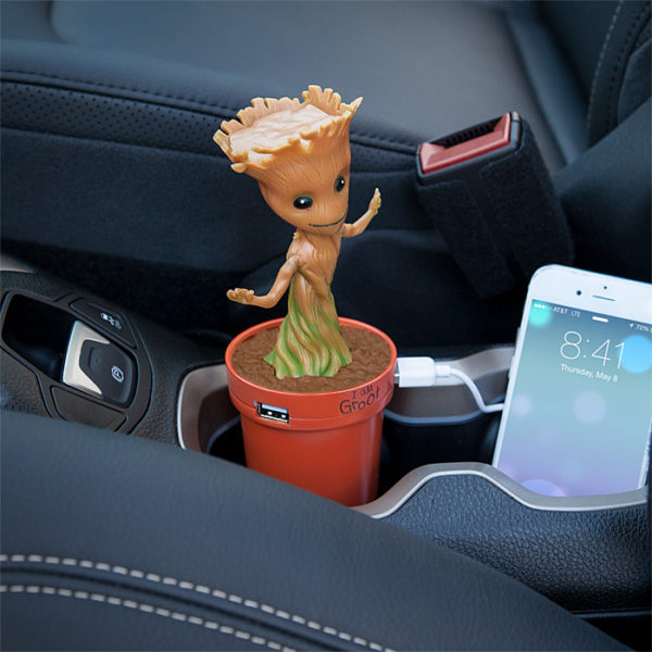 jjpm marvel groot usb car charger inuse 600x600 1 Marvel Groot USB Car Charger