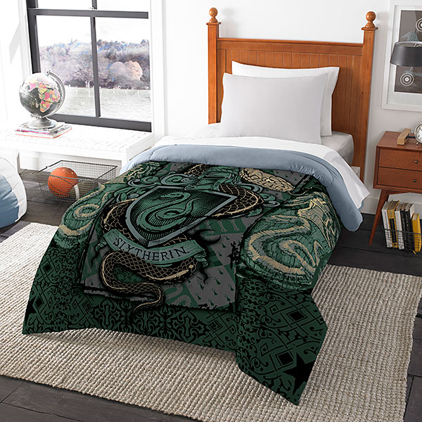 jlss harry potter house comforters slytherin Harry Potter House Comforters