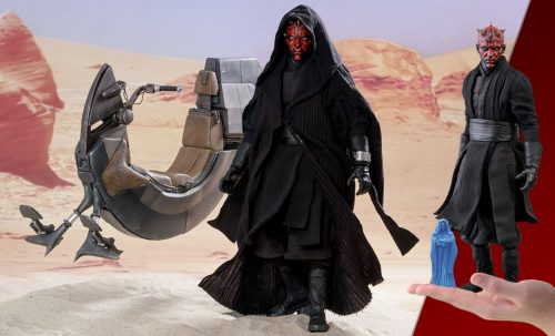 star wars darth maul with sith speeder sixth scale figure hot toys feature 9037371 500x303 Star Wars Darth Maul with Sith Speeder Special Edition Sixth
