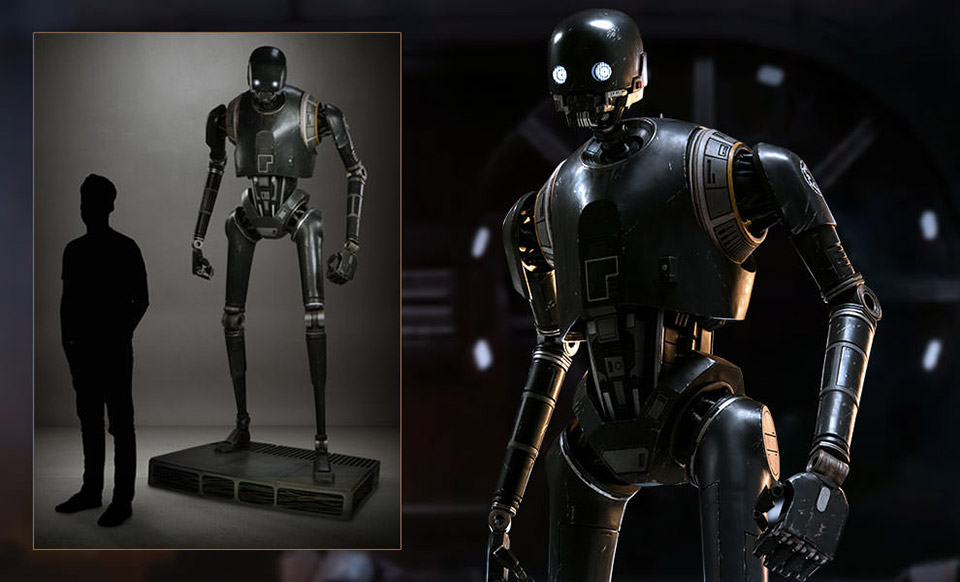 star wars k 2so life size statue sideshow collectibles 1 Life size K 2SO Statue