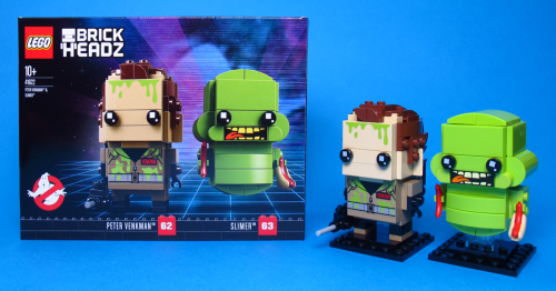 Ghostbusters Brickheadz FB Image 500x262 LEGO BrickHeadz 41622 Peter Venkman and Slimer from Ghostbusters [Review] by The Brothers Brick