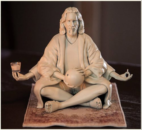 the dude abiding sculpture 1 500x457 This Resin Model Kit Features The Dude Abiding