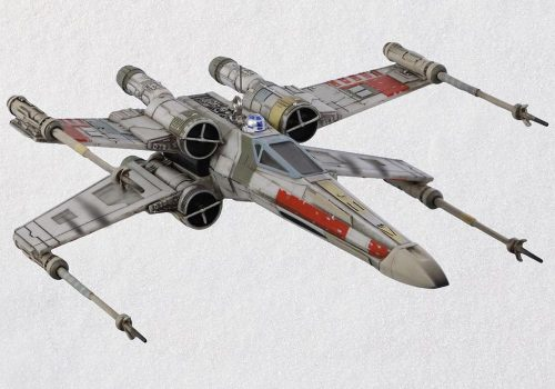 Star Wars X Wing Starfighter Ornament 500x350 X Wing Starfighter Ornament With Light and Sound