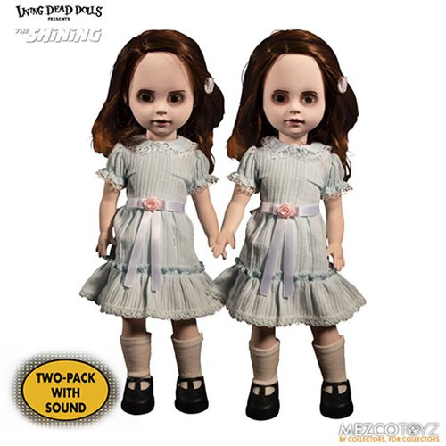 0100e27e1ab34d299651dda924705d07lg Living Dead Dolls The Shining Grady Twins Talking Dolls   Entertainment Earth