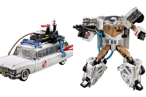 ghostbusters transformers 500x333 The Ghostbusters Ecto 1 Is Becoming a Transformer