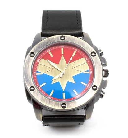 image wtchcmsym primary shsnowatermark Captain Marvel Symbol Watch with Adjustable Strap