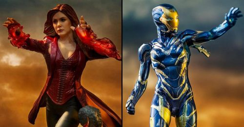 Endgame Rescue and Scarlet Witch Iron Studios 500x260 Avengers: Endgame   Scarlet Witch and Rescue Statues by Iron Studios   The Toyark   News