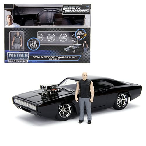 10b96d571d774899a06fe6267447db29lg Fast and the Furious Doms Dodge Charger 1:24 Scale Build and Collect Die Cast Metal Vehicle with Dom Figure