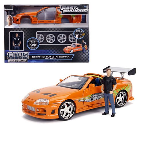 120efae966944d9a89ac686ae78e2627lg Fast and the Furious Brians Toyota Supra 1:24 Scale Build and Collect Die Cast Metal Vehicle with Brian Figure