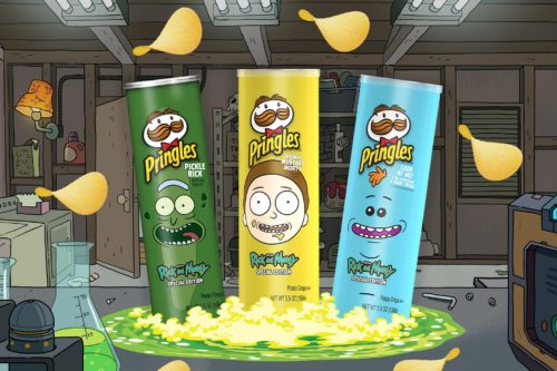 Kellogg Company Pringles Rick and Morty Cans scaled 1 500x333 Pringles® Introduces First Ever Interdimensional Stack With Trifecta Of Collectible Rick And Morty Inspired Flavors | Entertainment Rocks